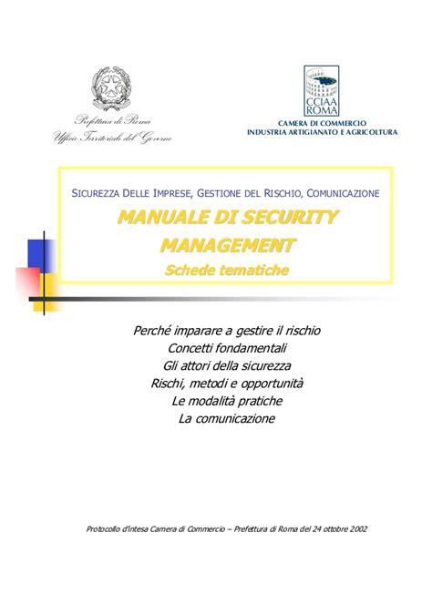prefettura ufficio territoriale governo di roma security manager imparare a gestire il rischio security