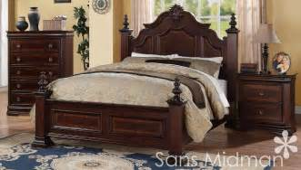 new chanelle size bed set 3 pc traditional cherry