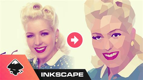 inkscape tutorial on youtube inkscape tutorial low poly portrait youtube