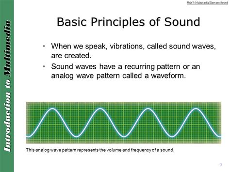 the sound pattern of communicative language is termed as unit 7 multimedia element sound ppt download