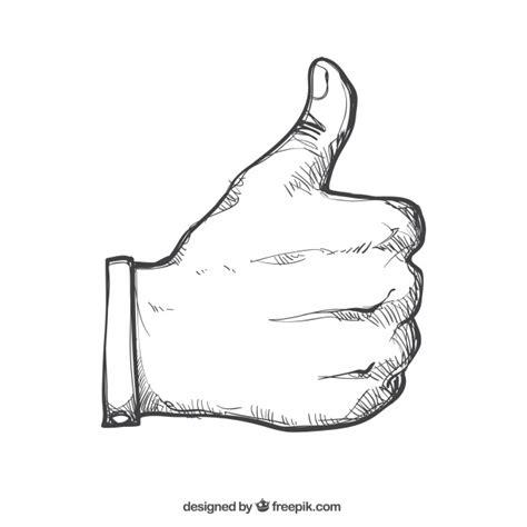 thumb doodles mano dibujada a mano con pulgar hacia arriba descargar