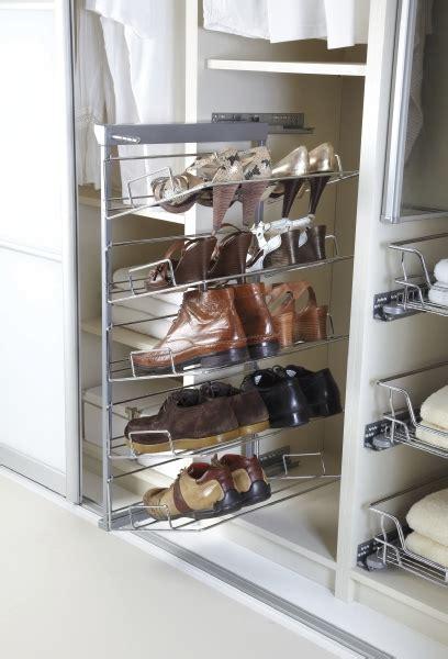 shoe rack side mount wardrobe accessories fumro