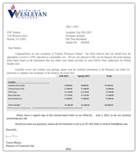 Wesleyan Acceptance Letter Accepting Your Awards