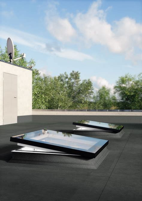 claraboya fakro type f flat roof window features a sleek modern look