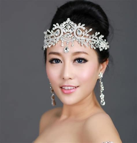 aliexpress com buy bride tiara head chain jewelry
