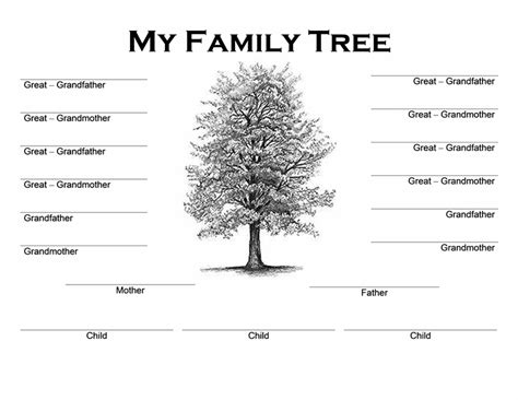 Family Tree Templates Word Word Excel Sles Genealogy Tree Template