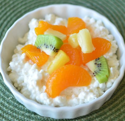 cottage cheese and cottage cheese and mixed fruit healthy