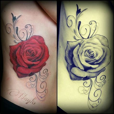 100 realistic rose tattoo black and realistic rose