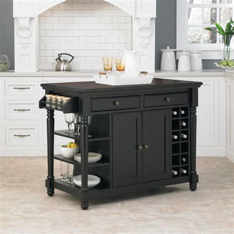 Kitchen Islands Portable Kitchen Island Black Portable Kitchen Island With Drawers And Cabinet Also Wine Racks The