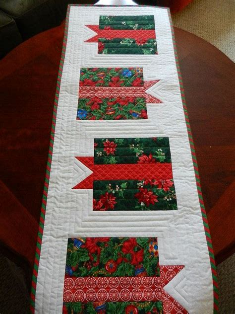 red christmas runner quilted christmas runner holiday gift boxes
