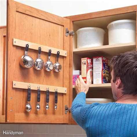 cabinet door storage ideas quick and clever kitchen storage ideas the family handyman
