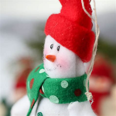 plush snowman christmas ornament christmas ornaments