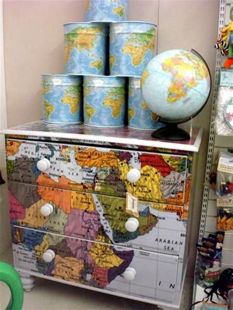 Decoupage Furniture With Maps - 17 best images about deco patch on vintage