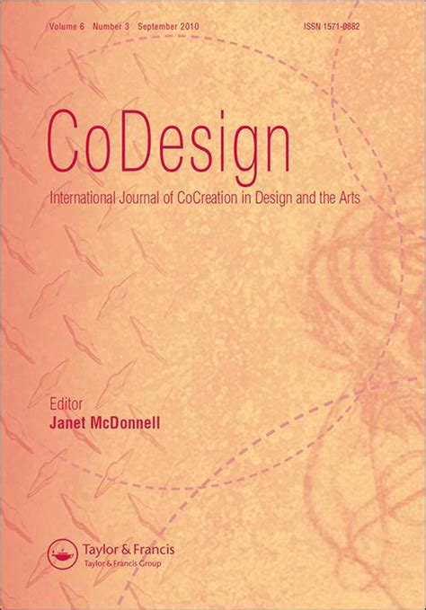 the international journal of art design education codesign call for papers explore taylor francis online