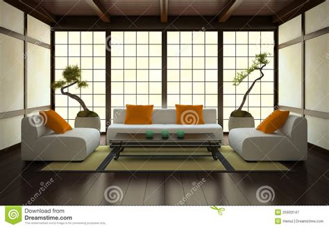 int rieur japonais moderne int 233 rieur dans le type japonais illustration stock