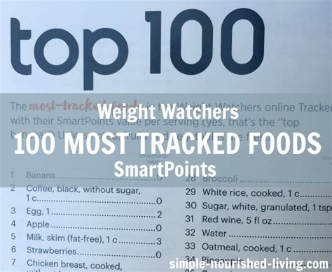 weight watchers success tips smart points edition fast and easy diet cookbook and home recipes for weight loss books weight watchers top 100 most tracked foods smart points