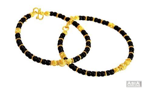 black bangles for baby 22k black baby kadas ajba57035 22k gold