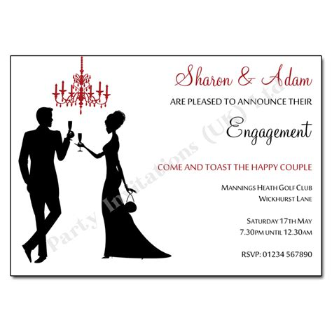 Engagement Invitation by Silhouettes Chandelier Engagement Invitation Engagement
