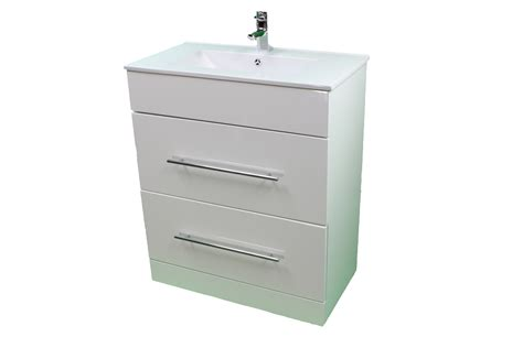 bathroom sink drawer unit bathroom cloakroom 700 white sink vanity unit 2 drawer