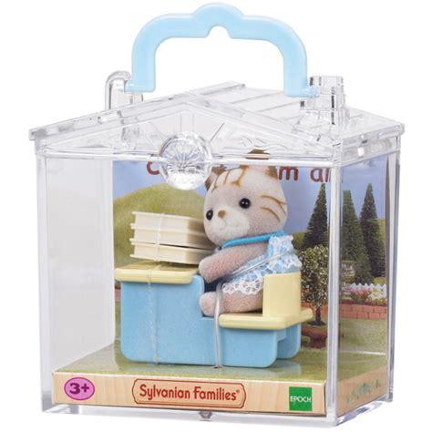 Sylvanian 3350 Baby Carry Cat At Desk cat at desk sylvanian families