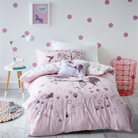 unicorn bedroom adairs kids girls unicorn dreaming bedlinen bedroom
