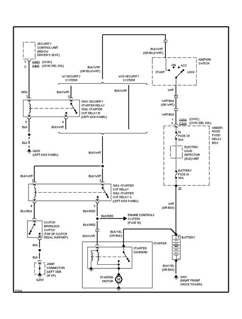1999 honda civic ignition switch wiring diagram honda