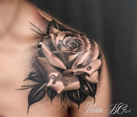 rose tattoo black and white pinteres