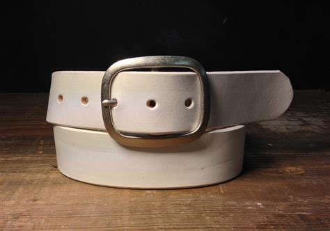 Handmade Belts Usa - white leather belt handmade in usa