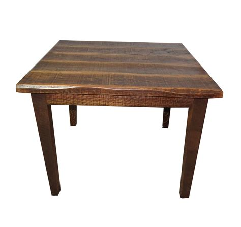 kichen table rustic distressed oak 30 quot high kitchen table with 40x40 top