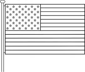 american flag pole coloring independence