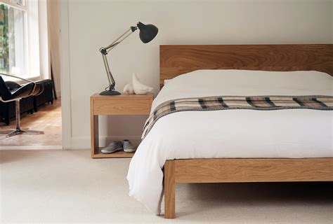 solid oak bedside table contemporary scandinavian style snuginteriors solid wood scandinavian style beds blog natural bed