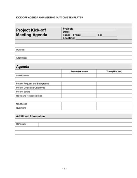 project kickoff meeting template best photos of project team meeting agenda template project kick meeting agenda template