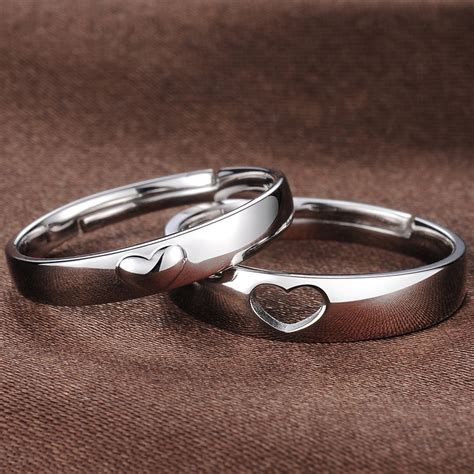 adjustable domed promise rings for couples promises