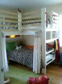 L Shaped Bunk Beds For Adults Loft Hang Out Area Above Bed Decorating