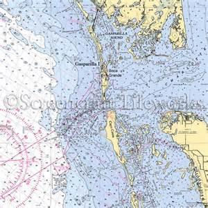 gasparilla island florida map florida gasparilla island cayo costa nautical chart decor