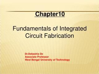 the fabrication of integrated circuits ppt sipass integrated powerpoint presentation id 5960700