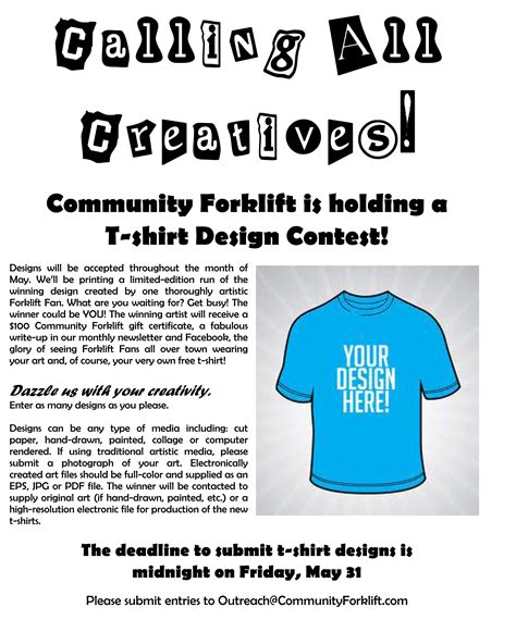 calling all creatives enter our may t shirt design