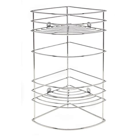 Bathroom Corner Shelving Unit Chrome 3 Shelf Bathroom Corner Shelving Unit