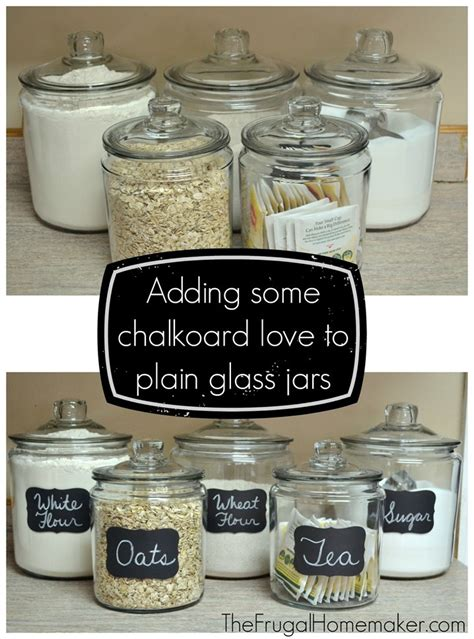 Kitchen Canister Labels by Adding Some Chalkboard Fun To My Glass Canisters