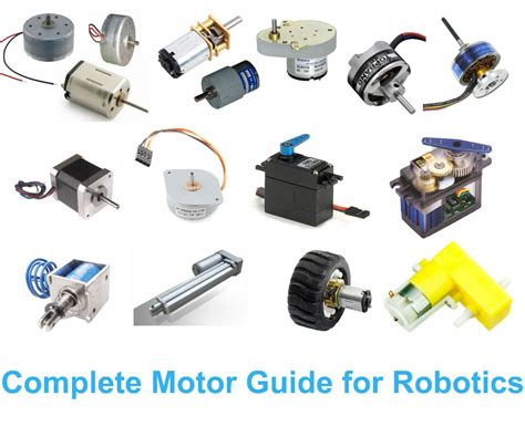 name some devices in which electric motors are used complete motor guide for robotics 3