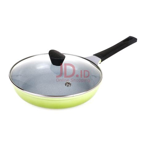 Wajan Neoflam jual neoflam mitra fry pan 26cm glass lid marble green jd id