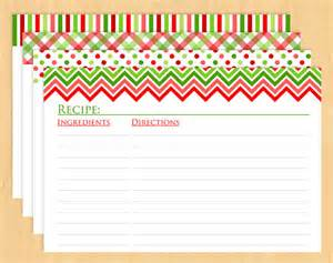 Free Christmas Recipe Card Template 6 Best Images Of Printable Recipe Cards Christmas Free