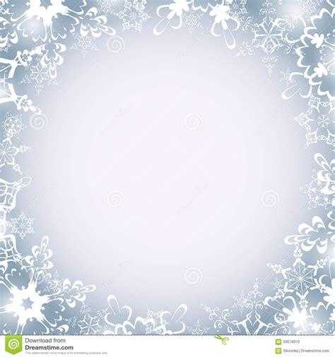 winter luxury  frame  snowflakes stock vector image