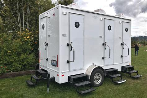 portable bathroom trailer portable restroom trailer rental national event pros