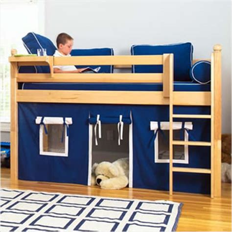 little boys beds maxtrix kids twin low loft bed with underbed curtain