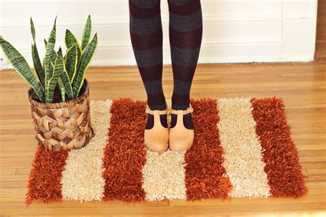 handmade latch hook rug via a beautiful mess