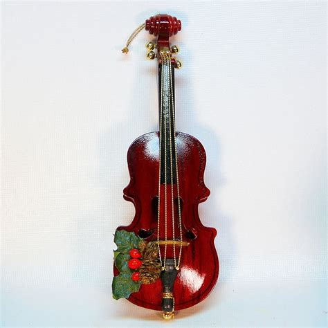 christmas ornament that plays music san francisco box violin cello ornament plays
