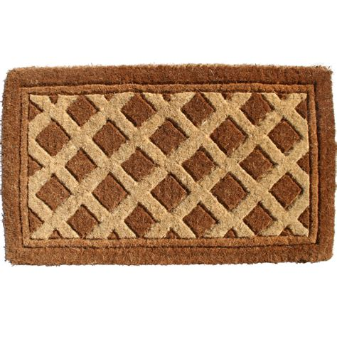 Coir Doormat Decorative Coir Doormat Diamonds In Doormats