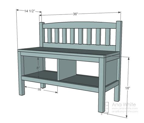 building an entryway bench ana white build a cottage bench with storage cubbies