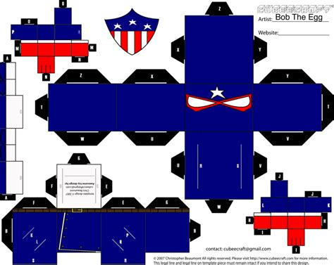 Cubee Papercraft - patriot cubee by bobtheegg on deviantart
